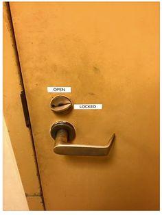 A door that no one can lock. Toaster, User Interface, Door Handles, Doors, Canning, Home Decor, Door Knobs, Decoration Home, Room Decor