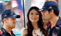 Sebastian Vettel and Mark Webber at Malaysian Grand Prix