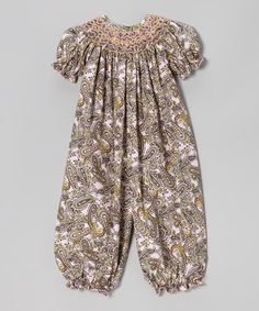 Take a look at this Pink & Brown Paisley Bubble Playsuit - Infant by BeMine on #zulily today!