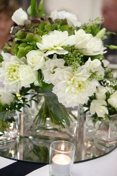 Frances Dunn Florist - Green and White Wedding