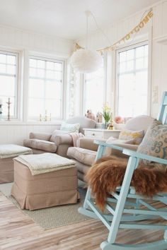 i really enjoy this woman's website Restoration, Ottoman, Cottage, Website, Chair, Furniture, Home Decor, Decoration Home, Room Decor