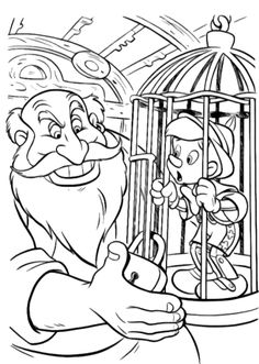 Pinocchio Was In Brackets Coloring Pages