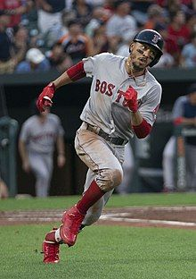 Markus Lynn Mookie Betts Born October 7 1992 Is An American Professional Baseball Outfielder For The Boston Re Mookie Betts Professional Baseball Baseball
