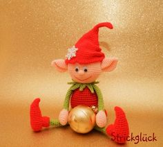 Weihnachtself selber häkeln -DIY-Deko ✓✓
