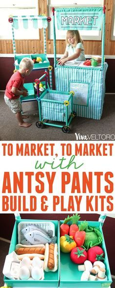 Your kids will love creating with Antsy Pants Build & Play Kits. The possibilities for imaginative play are endless! AD