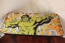 Upcycled Vintage Retro Coffee Table Incredible Hulk Marvel Comic Super Hero
