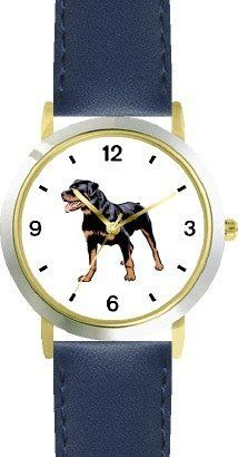 Rottweiler Dog - WATCHBUDDY® DELUXE TWO-TONE THEME WATCH - Arabic Numbers - Blue Leather Strap-Children's Size-Small ( Boy's Size & Girl's Size ) WatchBuddy. $49.95. Save 38%!