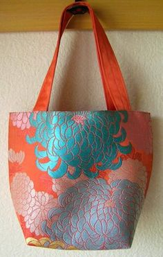 Recycling Kimono Fabric into bags - featured on Today's Creative Blog