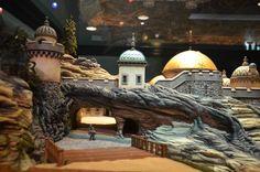 Disney Imagineering, Disney's  Explorers Landing Fortress  Disney Tokyo Seas  Conceptual miniature model