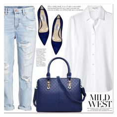 """""""Mild West"""" by lucky-1990 ❤ liked on Polyvore featuring Yves Saint Laurent, H&M and Prada"""