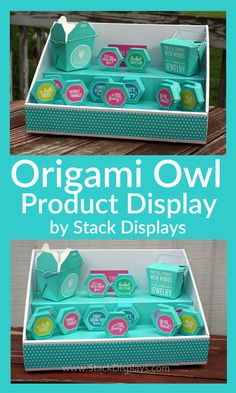 What a beautiful way to display your Origami Owl products in their packages at vendor events, craft shows or home parties!