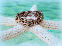 Copper Double Strand Infinity Knot - Unisex Wedding Band - Braided Band on Etsy, $60.00