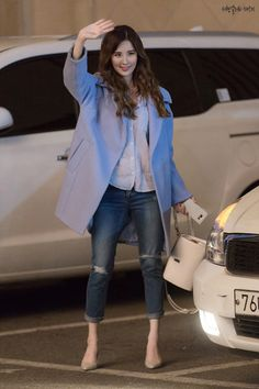 GIRLS GENERATION, the best source for photography, media, news and all things related. Snsd Airport Fashion, Snsd Fashion, Korean Fashion, Girl Fashion, Fashion Outfits, Womens Fashion, Kpop Outfits, Korean Outfits, Casual Outfits
