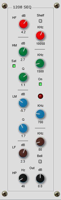 1208audio releases 1208 SEQ free parametric EQ plugin 64 bit Windows VST2 & VST3