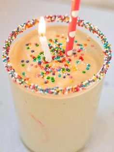 We guarantee you'll love everything about this birthday cake smoothie.