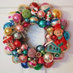 christmas vintage wreath