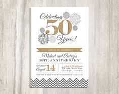 Free Th Wedding Anniversary Invitations Templates Th Wedding - Wedding invitation templates: golden wedding anniversary invitations templates
