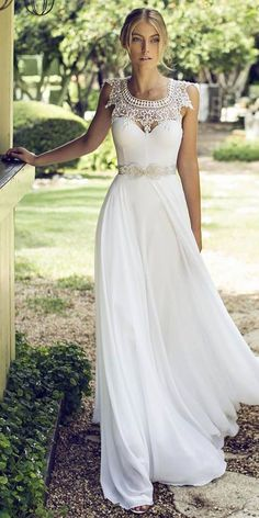 18 Best Of Greek Wedding Dresses For Glamorous Bride ❤ See more: http://www.weddingforward.com/greek-wedding-dresses/ #weddings #dress