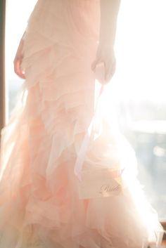 blush color wedding dress....maybe?