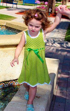 Free Knitting Pattern - Toddler & Children's Clothes: Elenka Lace Dress