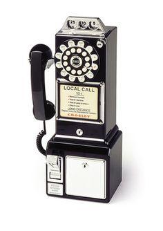 CROSLEY RADIO  1950's Payphone