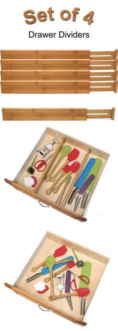 Flatware Storage 159899: Kitchen Utensils Storage Divider Drawer Neat Organizer Small Bamboo Wood Rack -> BUY IT NOW ONLY: $40.99 on eBay!