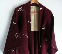 Kimono jacket Japanese vintage tie dyed silk by WhatsForPudding