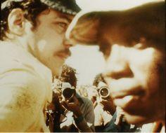 """Chico Buarque e Milton Nascimento em junho de 1977 no lendário Show de Paraíso, em Três Pontas (MG), que ficou conhecido como """"Woodstock Mineiro"""".  Veja mais em: http://semioticas1.blogspot.com.br/2012/03/o-clube-da-esquina.html"""