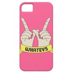 Pink whatevs iPhone case
