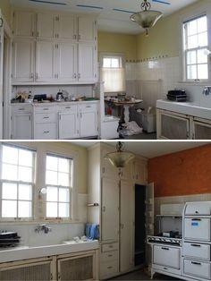 1920 Era Kitchen Cabinets Unique Best Vintage Kitchens Images On Bungalow Cupboards 1920s Kitchen, Home, Kitchen Remodel, Kitchen Design, Bungalow Kitchen, Home Remodeling, Vintage Kitchen, Vintage Kitchen Cabinets, Home Renovation
