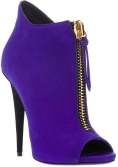 #Giuseppe Zanotti purple zip #heels #shoes