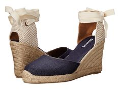 Best comfortable wedge sandals for summer | the linen wedge espadrille by Soludos