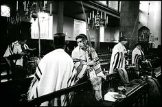 Sukkoth service in a Jewish-Portuguese Synagogue The Netherlands - Amsterdam, 1958