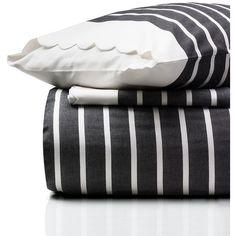 Kate Spade Harbour Stripe Comforter Set ($180) ❤ liked on Polyvore featuring home, bed & bath, bedding, comforters, colorful comforters, multi colored bedding, kate spade bedding, stripe comforter set and colorful comforter sets