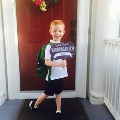 First Day of School: Personalized Chalkboard Signs {ANY GRADE}