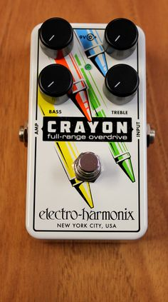 Electro-Harmonix CRAYON Full Range Overdrive Guitar Effects Pedal