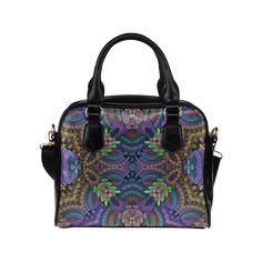 Fractal Garden Shoulder Handbag (Model 1634) #pattern #fractal #Mandelbulb3Dfractal #organic #detailed #intricate