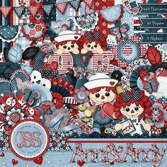 Rag Doll Digital Scrapbooking Kit Digital by JssScrapBoutique, $4.99