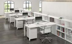 Searching for very cheap office furniture that isn't going to break without having to sacrifice quality or looks. Open Space Office, Open Concept Office, Loft Office, Corporate Office Design, Open Office Design, Office Furniture Design, Office Interior Design, Space Interiors, Office Interiors