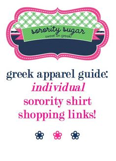 the sorority sugar list of greek websites which offer graphic tees & greek stitch letter shirts for individual purchase, not just group orders! <3 BLOG LINK:  http://sororitysugar.tumblr.com/post/48936784106/shop-for-individual-sorority-shirts#notes