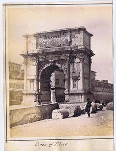 Rome Arch of Titus Antique Albumen Photograph c1890