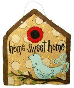 Burlap: Home Sweet Home Door Hanger