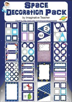 Decoration Pack - Space theme product from Imaginative-Teacher on TeachersNotebook.com
