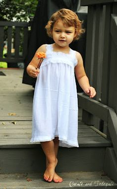 "Pillowcase Nightgown Tutorial- Super easy - Now THIS version of a ""pillow-case dress"" is CUTE! The early ones looked like you dressed your kid in a pillow-case!"