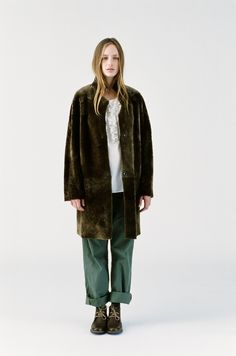.#comfort coat fur green