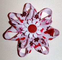 Stacked Ribbon Flower Bow
