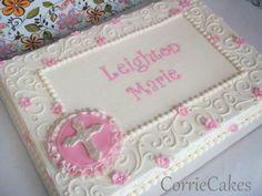 Baptism Sheet Cakes | Baptism cake idea
