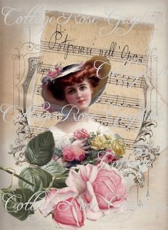 For every 3 images you purchase, you get one free Victorian Paintings, Victorian Art, Decoupage Vintage, Vintage Paper, Vintage Greeting Cards, Vintage Postcards, Opera Music, Etiquette Vintage, Victorian Pictures