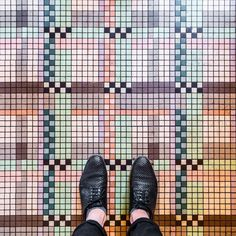 Photographer Documents the Unique Beauty of Colorful Floor Tiles in Paris - My Modern Met Floor Patterns, Mosaic Patterns, Textures Patterns, Geometric Patterns, Tile Art, Mosaic Tiles, Mosaic Floors, Tiling, Mosaic Art