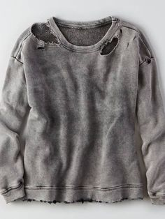 Ripped Hoodie, Ripped Shirts, Loose Shirts, Diy Sweatshirt, Diy Shirt, Estilo Dark, Mens Outfitters, Eagle Outfitters, Diy Clothes